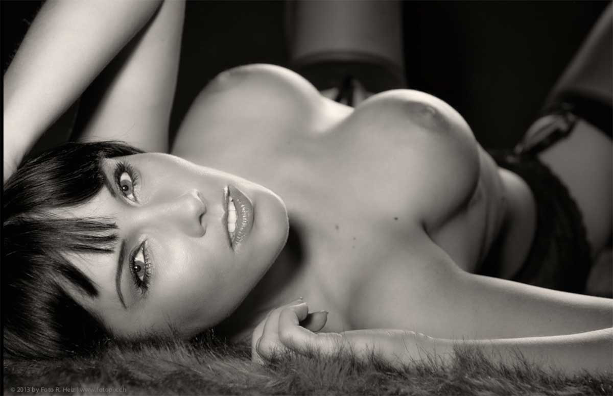 Black and white erotic nude art