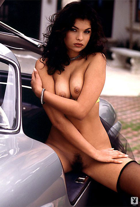 Curly naked playmate from